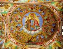 Правоверная религиозная христианская картина значка в церков Стоковое Изображение RF
