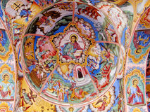 Правоверная религиозная христианская картина значка в церков Стоковое фото RF