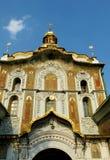 Правоверная христианская церковь с золотыми куполами в Киеве Стоковое фото RF