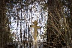 Правоверный мемориальный крест Стоковые Фото