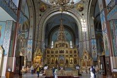 Правоверный собор в Риге, внутреннем художественном оформлении Стоковые Фото