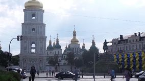 Правоверный собор st Софии в Киеве сток-видео