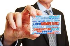 Правомочность и совет менеджера предлагая стоковое изображение