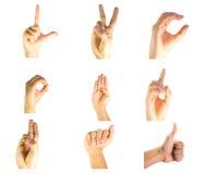 Правописание пальца Стоковые Изображения
