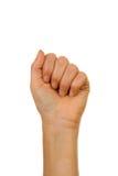 правописание письма руки перста алфавитов Стоковые Фото