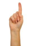 правописание письма руки перста алфавитов d Стоковое фото RF