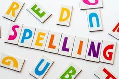 Правописание слова сделанное красочных писем Стоковые Фото