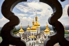 Православная церков церковь Киева Pechersk Lavra стоковое изображение