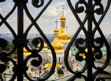 Православная церков церковь Киева Pechersk Lavra стоковое изображение rf
