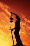 Правосудие дамы Стоковое Изображение