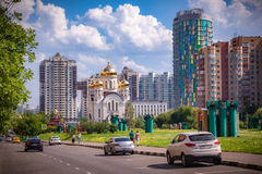 Православная церков церковь в районе Cheremushki, Москве, России Стоковое Фото