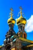 Православная церков церковь (построенное †1897 «1899) в Дармштадте, Германии Стоковые Фото