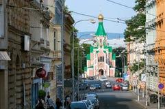Православная церков церковь предназначила к Святому Gorazd в Olomouc, Моравии, чехии Стоковое Фото