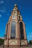 Православная церков церковь против голубого неба Стоковые Изображения RF