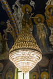 Православная церков церковь люстры Стоковое Изображение RF