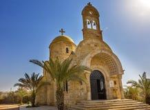 Православная церков церковь Bethany баптиста Джона греческая за Джорданом стоковое изображение rf