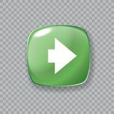 право иконы стрелки застегните лоснистый зеленый цвет также вектор иллюстрации притяжки corel Стоковое фото RF