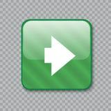 право иконы стрелки застегните лоснистый зеленый цвет также вектор иллюстрации притяжки corel Стоковая Фотография RF