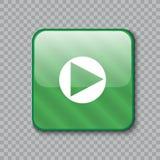 право иконы стрелки застегните лоснистый зеленый цвет также вектор иллюстрации притяжки corel Стоковые Фото