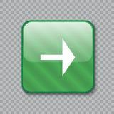 право иконы стрелки застегните лоснистый зеленый цвет также вектор иллюстрации притяжки corel Стоковая Фотография