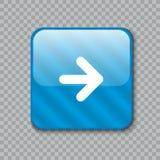 право иконы стрелки Лоснистая голубая кнопка также вектор иллюстрации притяжки corel бесплатная иллюстрация