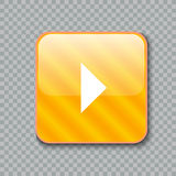 право иконы стрелки Лоснистая желтая кнопка также вектор иллюстрации притяжки corel иллюстрация штока