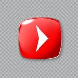 право иконы стрелки Лоснистая красная кнопка также вектор иллюстрации притяжки corel бесплатная иллюстрация