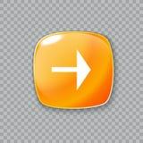 право иконы стрелки Лоснистая оранжевая кнопка также вектор иллюстрации притяжки corel иллюстрация штока