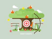 Право целится дерево с животным иллюстрация штока