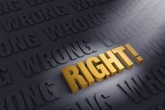 Право! иллюстрация штока