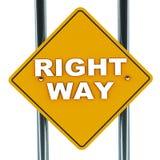 Правый путь Стоковые Изображения RF
