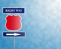 правый путь Стоковое Фото