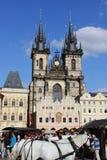 Прага взгляд городка республики cesky чехословакского krumlov средневековый старый Стоковые Изображения RF