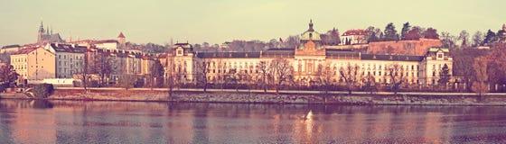 Прага взгляд городка республики cesky чехословакского krumlov средневековый старый Стоковые Фотографии RF