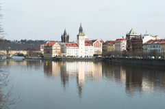 Прага взгляд от моста, изумительный красивый город для trav Стоковая Фотография