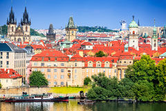 Прага, взгляд Mesto, чехия Стоковые Фото