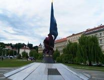 ПРАГА, военный мемориал WWII - мемориал  Стоковое Фото