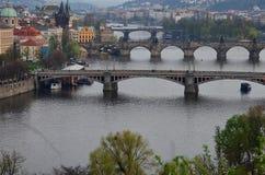 Прага в вечере Стоковая Фотография