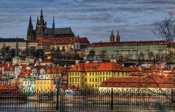 Прага, Влтава, Hradchany стоковые изображения