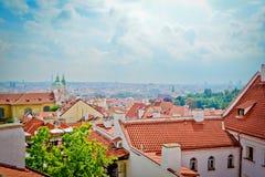 Прага, городской пейзаж Стоковые Изображения RF