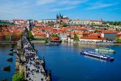 Прага, Карлов мост, Стоковые Изображения