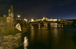 Прага к ноча стоковые изображения rf