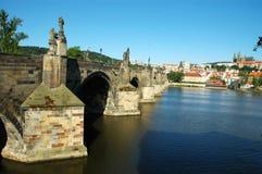 Прага. Мост Charles Стоковое Изображение