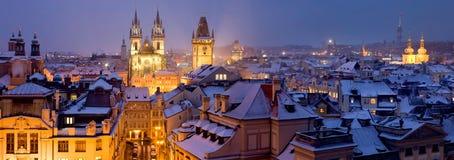 Прага на зимнем времени Стоковые Изображения RF