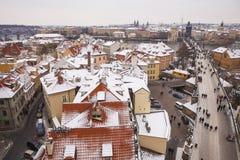 Прага на зимнем времени Стоковые Фото