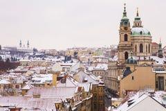 Прага на зимнем времени Стоковая Фотография