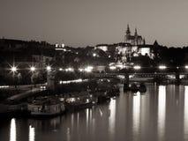 Прага на ноче Стоковое Изображение RF