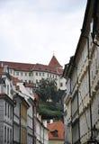 Прага, 29-ое августа: старые здания городка в Праге, чехии Стоковое Изображение