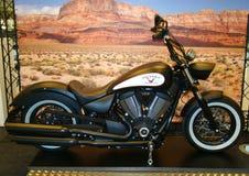 ПРАГА - 13-ОЕ ФЕВРАЛЯ: Высоко-шарик победы мотоцикла, США. 13-ое февраля 2013 Стоковое Фото