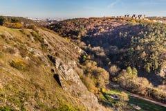 Прага от долины-Hlubocepy Prokop, чехии стоковое фото rf